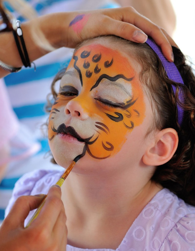 Funding Student Travel - Face Painting Fundraiser - Leopard Girl